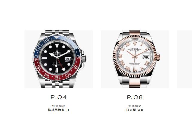 劳力士手表售后服务中心的手表展示